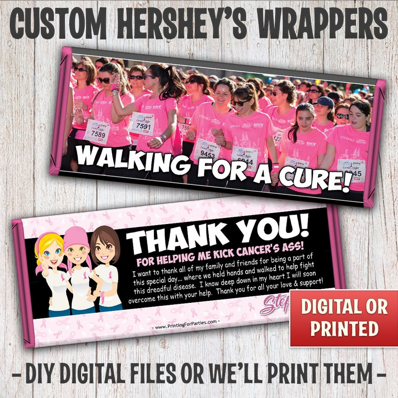 Breast Cancer Awareness Candy Bar Wrappers Breast Cancer image 0