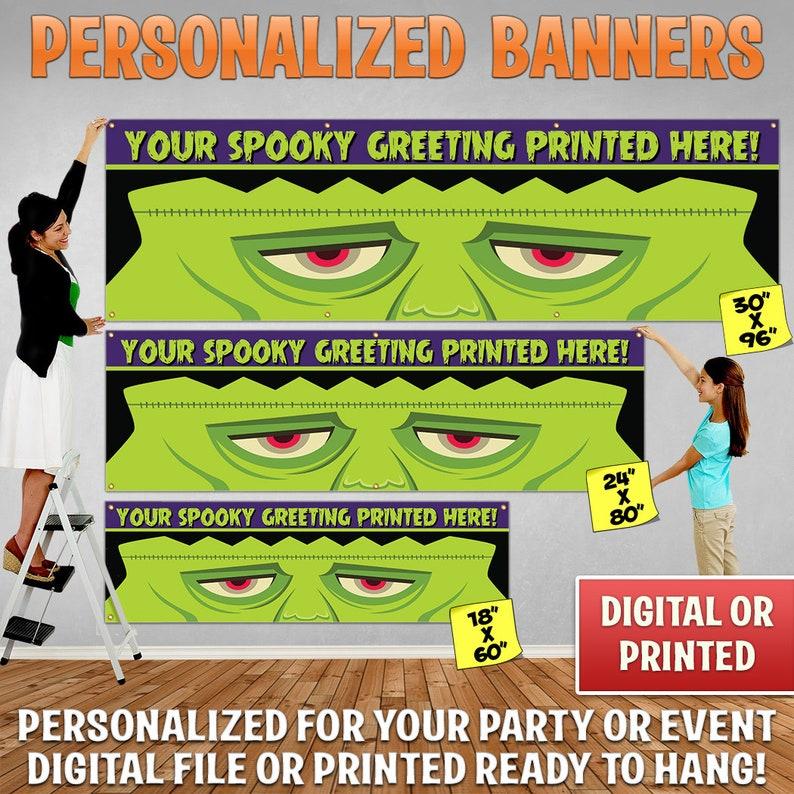 Custom Personalized Halloween Banner Decoration Custom image 0