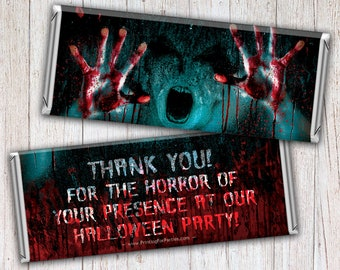 Halloween Candy Bar Wrappers, Zombie, Alien, Trick or Treat Candy Bar Wrappers, Candy Bar Wrappers, Free Foil, Digital File or Printed – 026