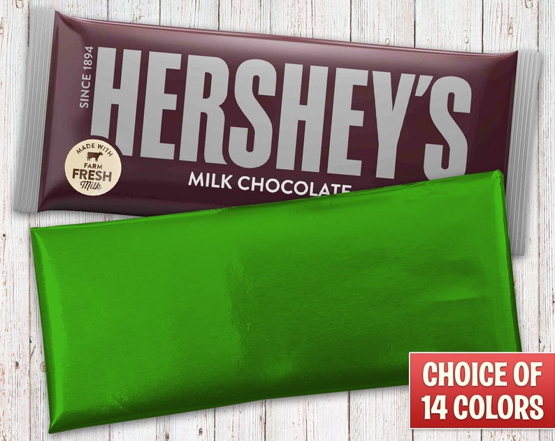 Hershey's Milk Chocolate Bars Wrapped with Green Foil image 0