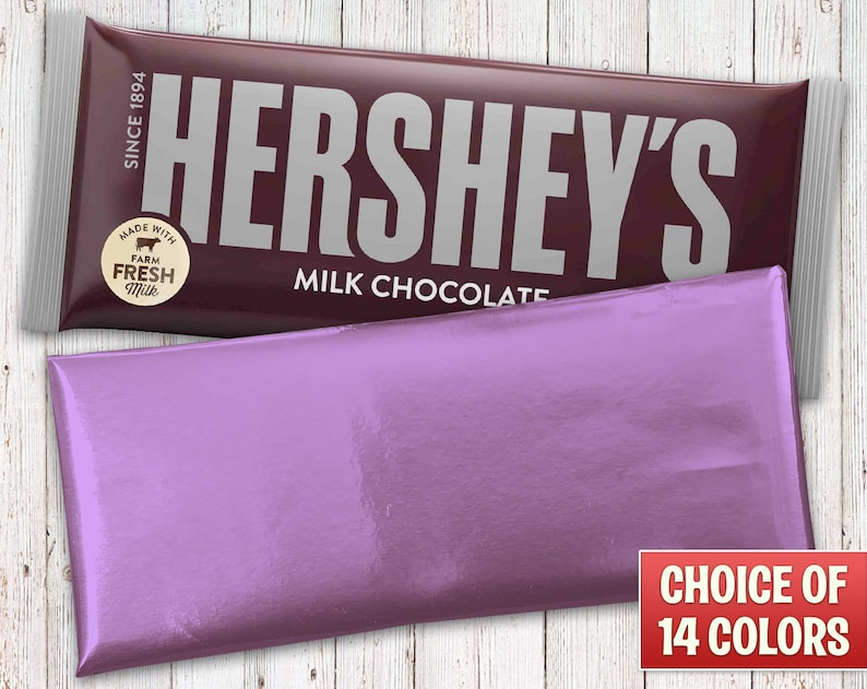 Hershey's Milk Chocolate Wrapped With a Lavender Foil image 0