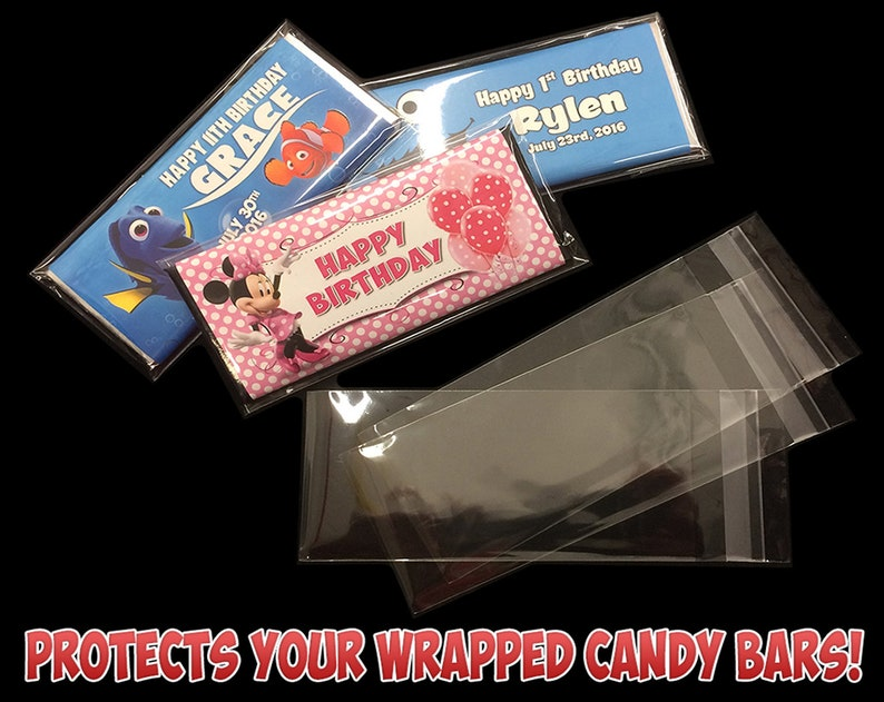 Hershey's Clear Plastic Protectors for Wrapped Hersheys image 0