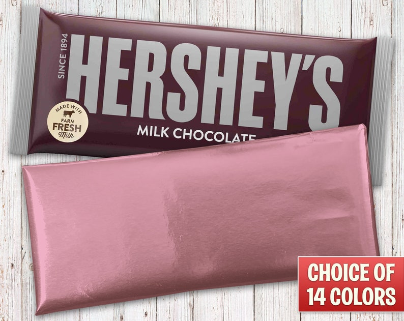 Hershey's Milk Chocolate Bars Wrapped with Light Pink Foil image 0