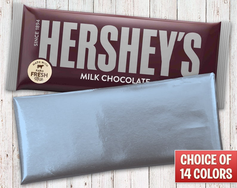 Hershey's Milk Chocolate Bars Wrapped with Light Blue Foil image 0