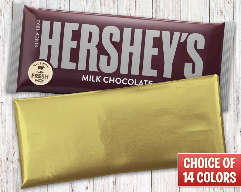 Hershey's Milk Chocolate Gold Foil Wrapped Bar  Gold Foil image 0