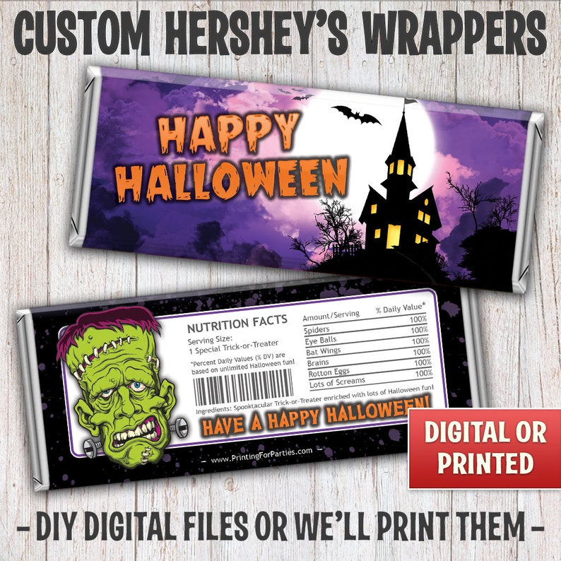 Halloween Candy Bar Wrappers Haunted House Trick or Treat image 0