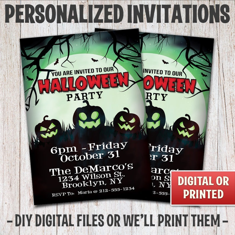 Personalized Halloween Party Invitations Halloween Scary image 0