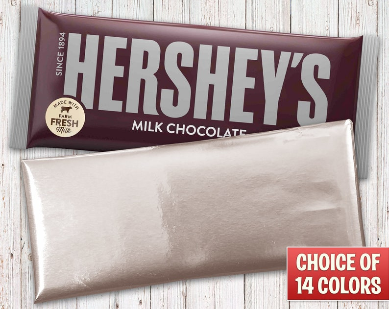 Hershey's Milk Chocolate Bars Wrapped with Silver Foil image 0