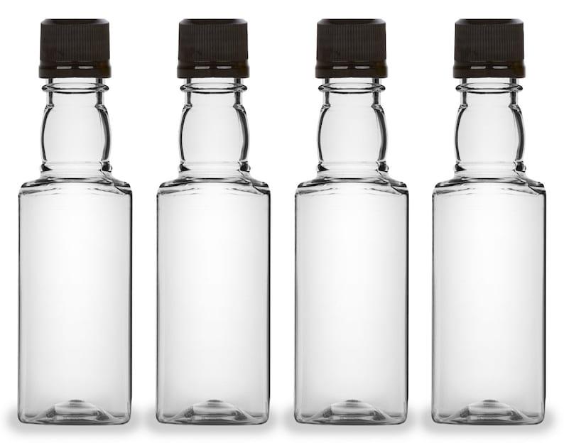 Mini Liquor Bottles Square 50ml Small Empty Plastic Mini image 0
