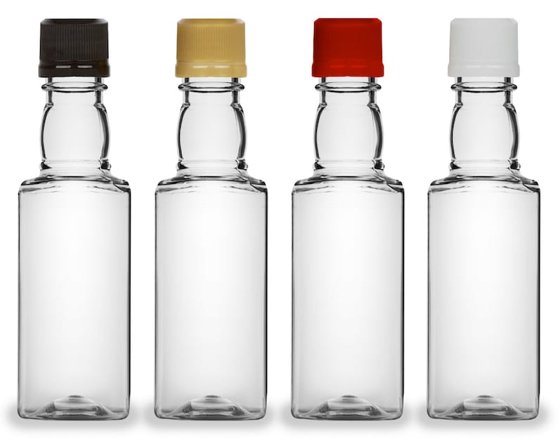 Mini Liquor Bottles Square 50ml Small Empty Plastic Mini image 0