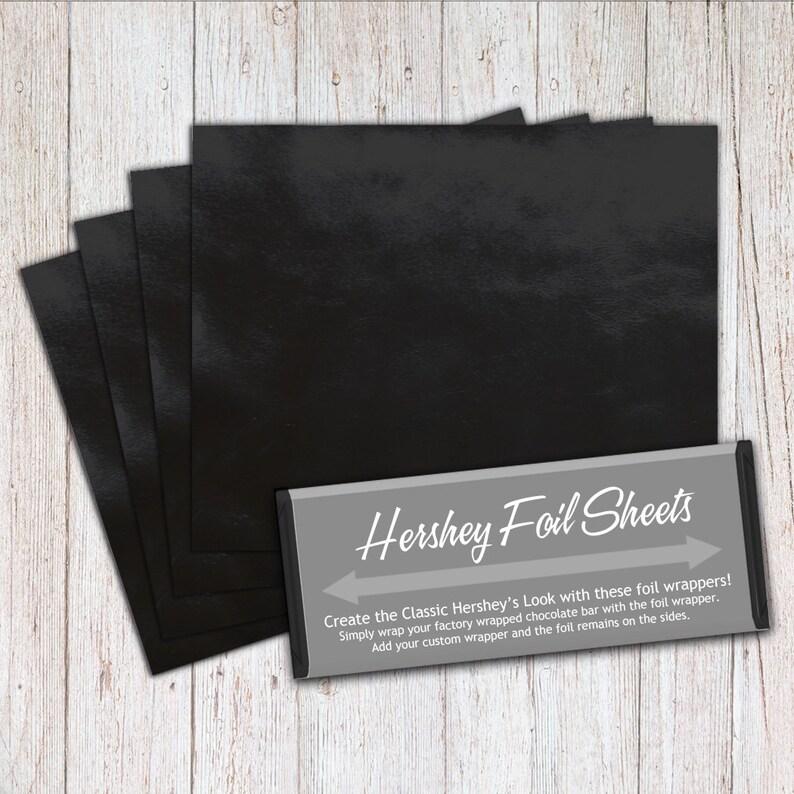Black Foil Sheets Hershey Foil Sheets Hershey Foil Wrappers image 0