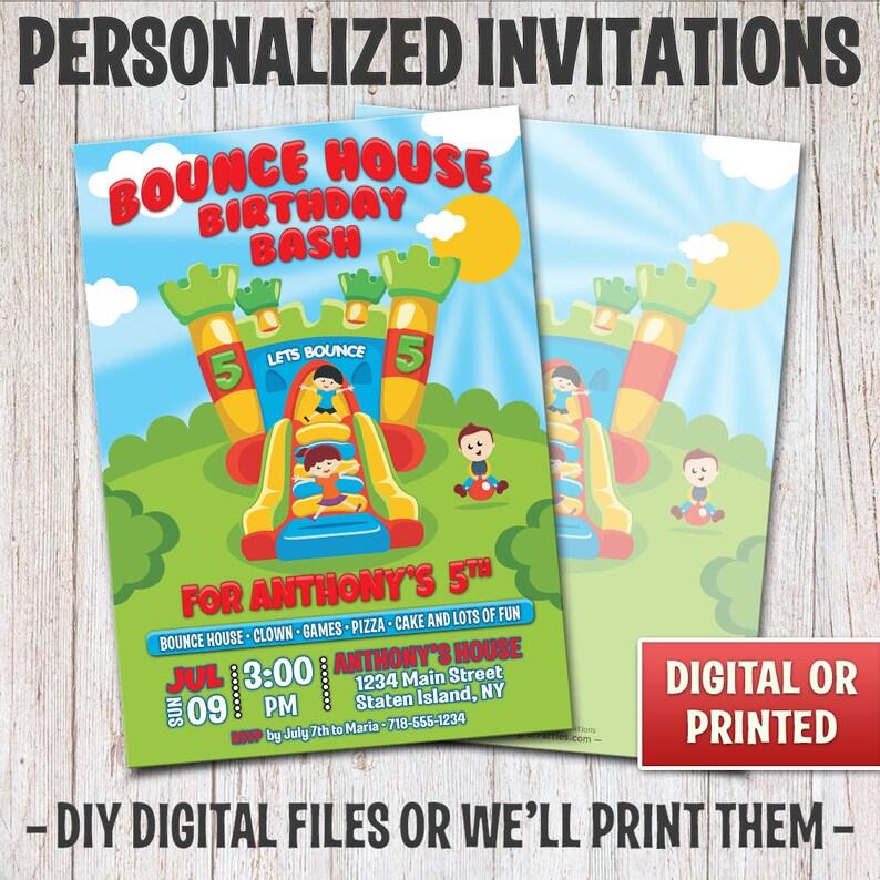 Personalized Birthday Invitation Birthday Bounce House image 0