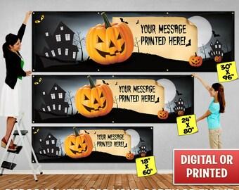 Custom Personalized Halloween Banner Decoration, Custom Banner, Personalized Banner, Halloween Banner, Halloween Backdrop Decoration - 105