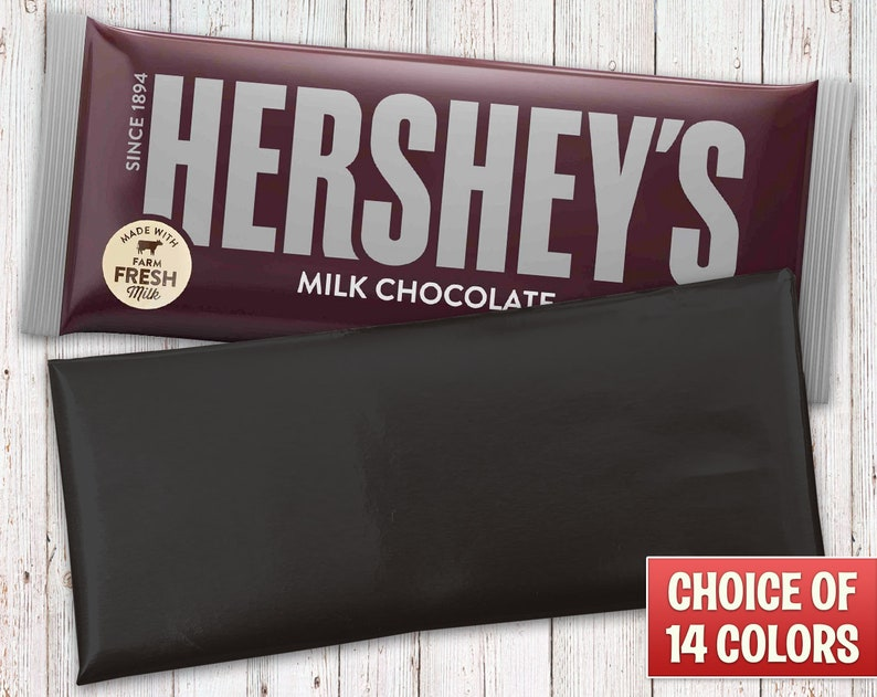 Hershey's Milk Chocolate Bars Wrapped with Black Foil image 0