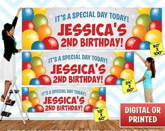 Custom Personalized Birthday Banner Decoration, Custom Banner, Personalized Banner, Birthday Banner, Birthday Backdrop Decoration - 027