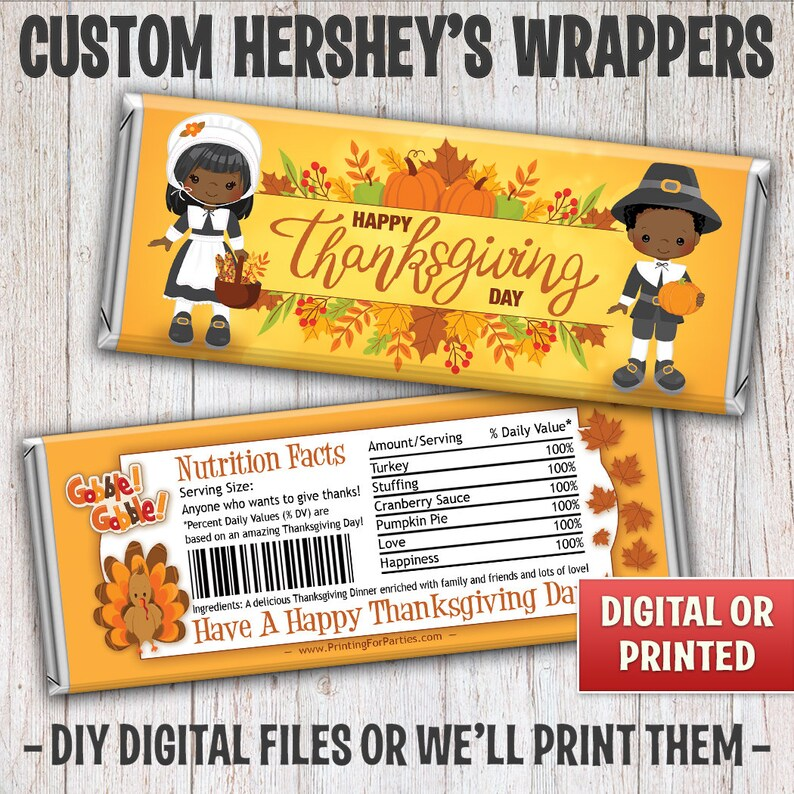 Thanksgiving Candy Bar Wrappers Fall Harvest Candy Bar image 0