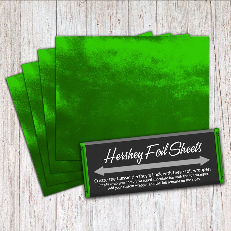 Green Foil Sheets Hershey Foil Sheets Hershey Foil Wrappers image 0