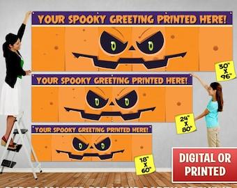 Custom Personalized Halloween Banner Decoration, Custom Banner, Personalized Banner, Halloween Banner, Halloween Backdrop Decoration - 101