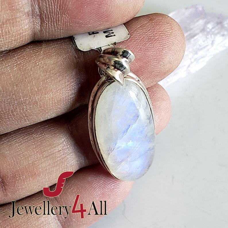 Massive Rainbow Moonstone Pendant Solid 925 Silver Pendant Sale Moonstone Necklace Pendant AAA grade Moonstone White blue Fire Pendant