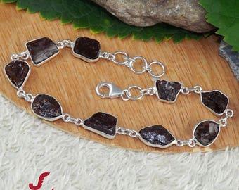 Garnet Bracelet, 925 Silver Bracelet, Raw Garnet Bracelet, Birthstone Bracelet, January Birthstone, Valentine Gift For Her, Garnet Jewelry,