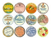 12 Pcs French Apothecary, Antique Chemist, Pharmacy, Druggist, Powder Perfume Labels, 1 Digital Sheet, Vintage Bathroom Decoration, 850