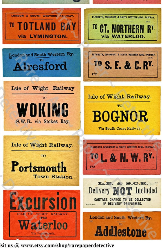 Luggage Labels Railway & Railr...