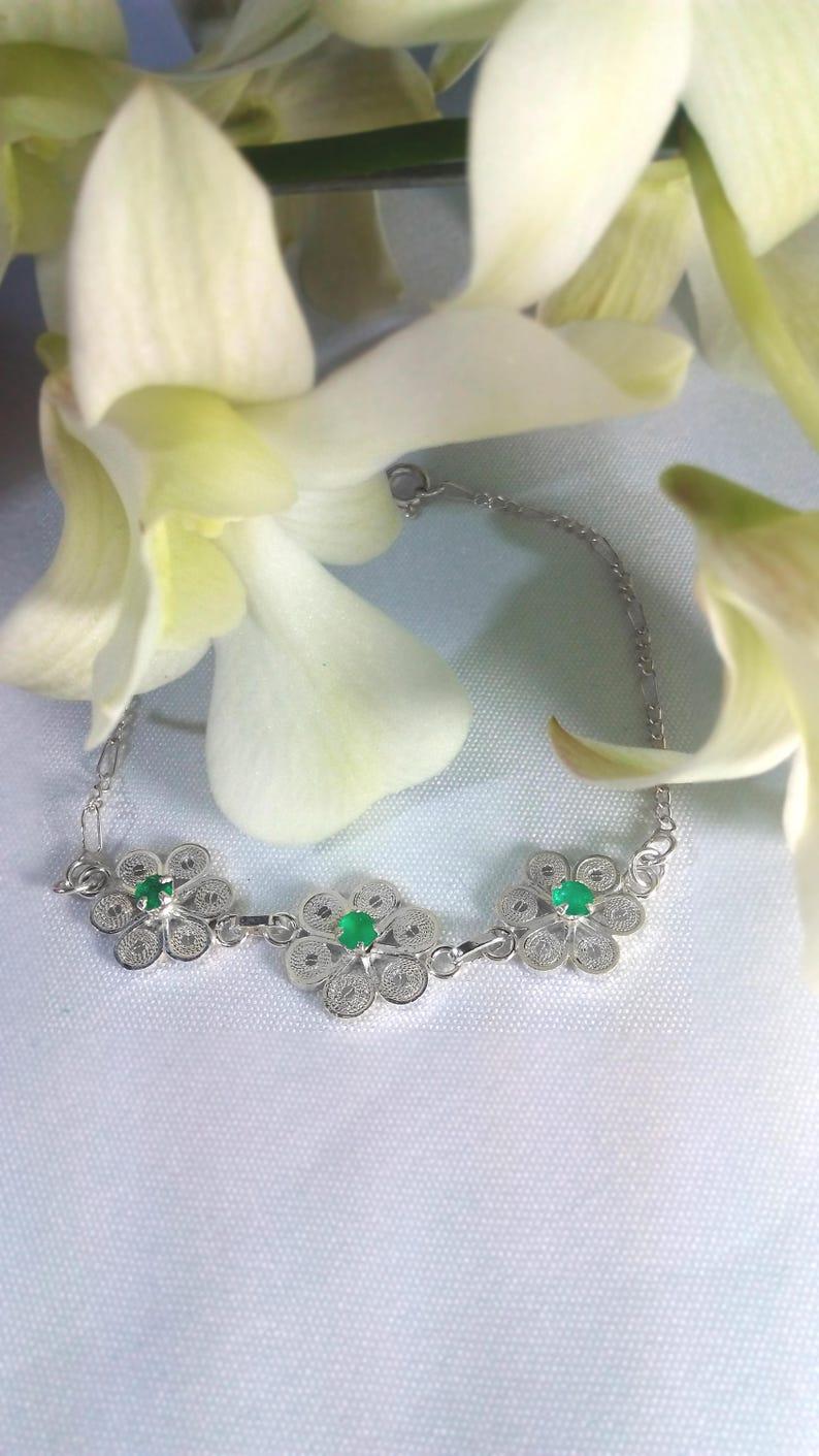 Primrose Emerald Bracelet