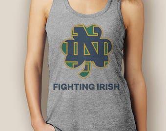Notre Dame Fighting Irish Football Signature Tank Top