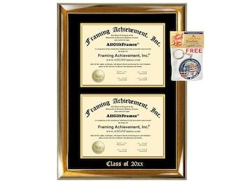 """8.5/"""" x 11/"""" QUALITY WOOD  1.5/"""" Walnut Diploma//Document Frame"""