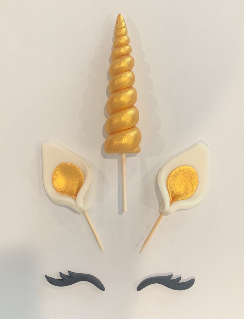 unicorn cake topper horn ears and lashes unicorn birthday image 0