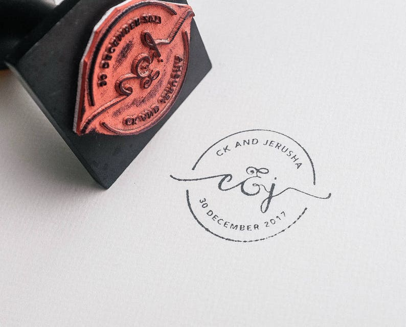 Wedding Stamp Custom Rubber Logo