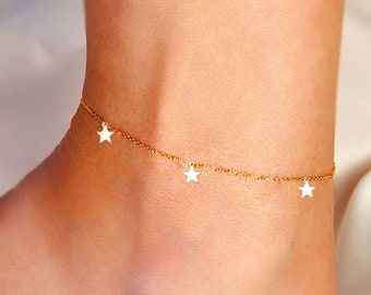 Seeing stars charm anklet