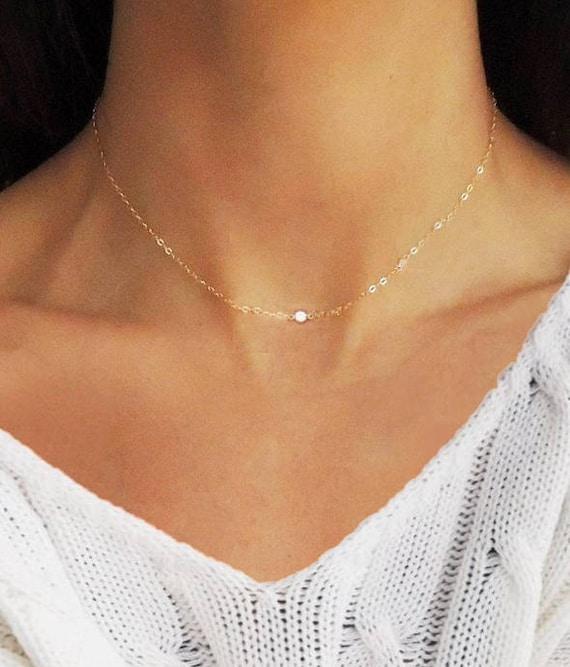 collier ras de cou diamants