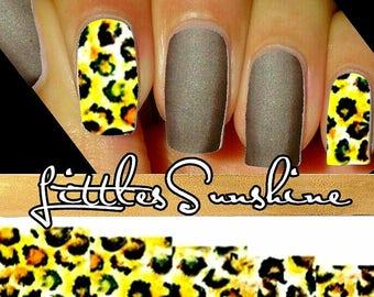 Cheetah Nails Etsy