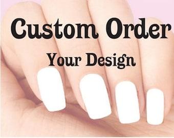 Custom nail decals | Etsy