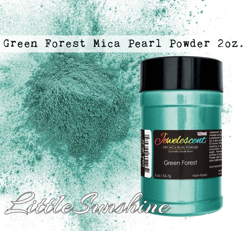 Green Forest Mica Pearl Powder 2oz/ Mica Pigment/ Mica Powder/ Mica Makeup/  Mica Nail Polish/ Pigment Slime/ Resin Pigment/ Slime Supplies