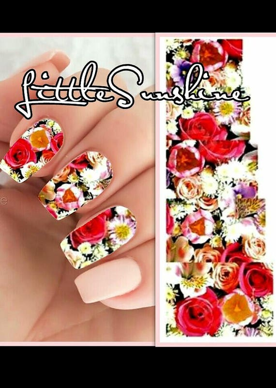 Nail Art Water Transfer Stickers ROSES Water Slides Nails   Etsy