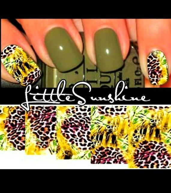 Wild Animal Print Waterslides Nails Decals Water Transfer Nail Etsy