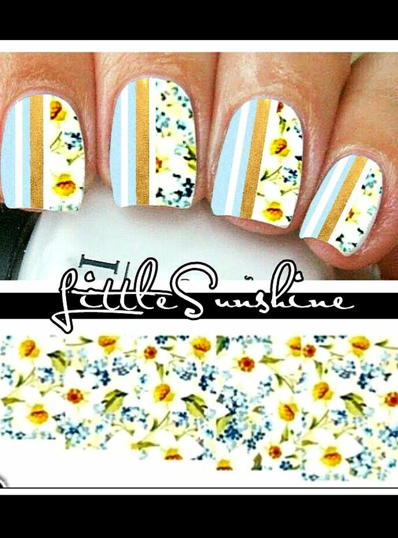 Flower Nail Art/ Flower Nail Decal/ Flower Nails/ Nail | Etsy