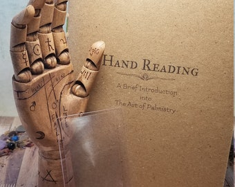 Palm Reading Hand with Palmistry Guide Book and Magnifier
