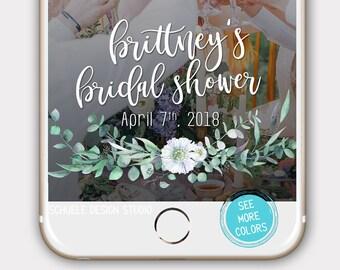 Bridal Shower Snapchat Filter, Bridal Shower Goefilter, Bridal Geofilter, Bride-to-be snapchat filter, custom geofilter, Greenery Geofilter