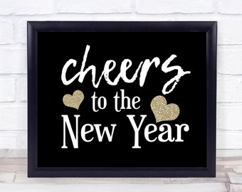cheers to the new year 2018 sign nye decorations nye print happy new year hello 2018 instant download printable party decor holiday