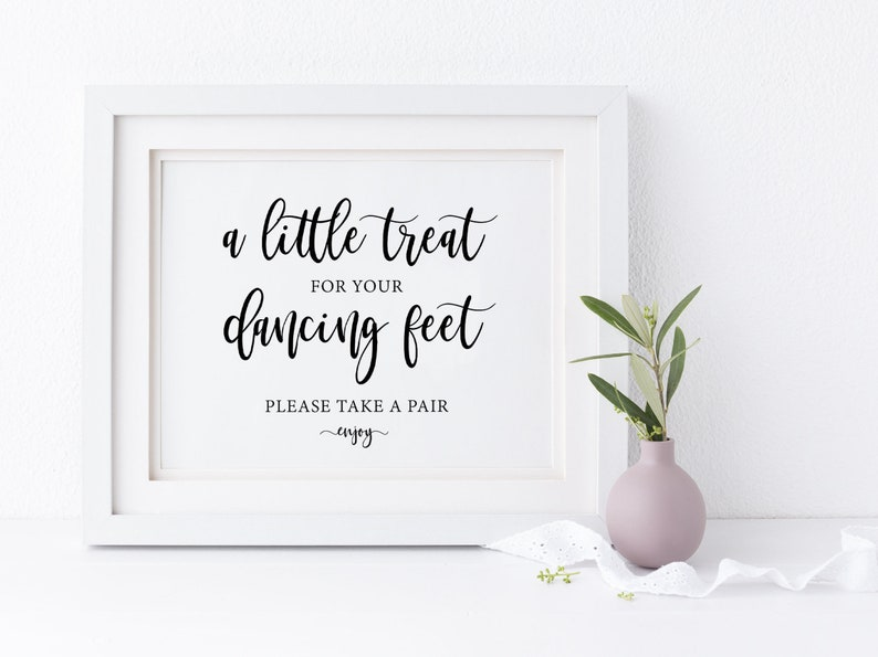 a8a1f61e85742 Dancing Shoes Printable Wedding Sign Wedding Signs Little