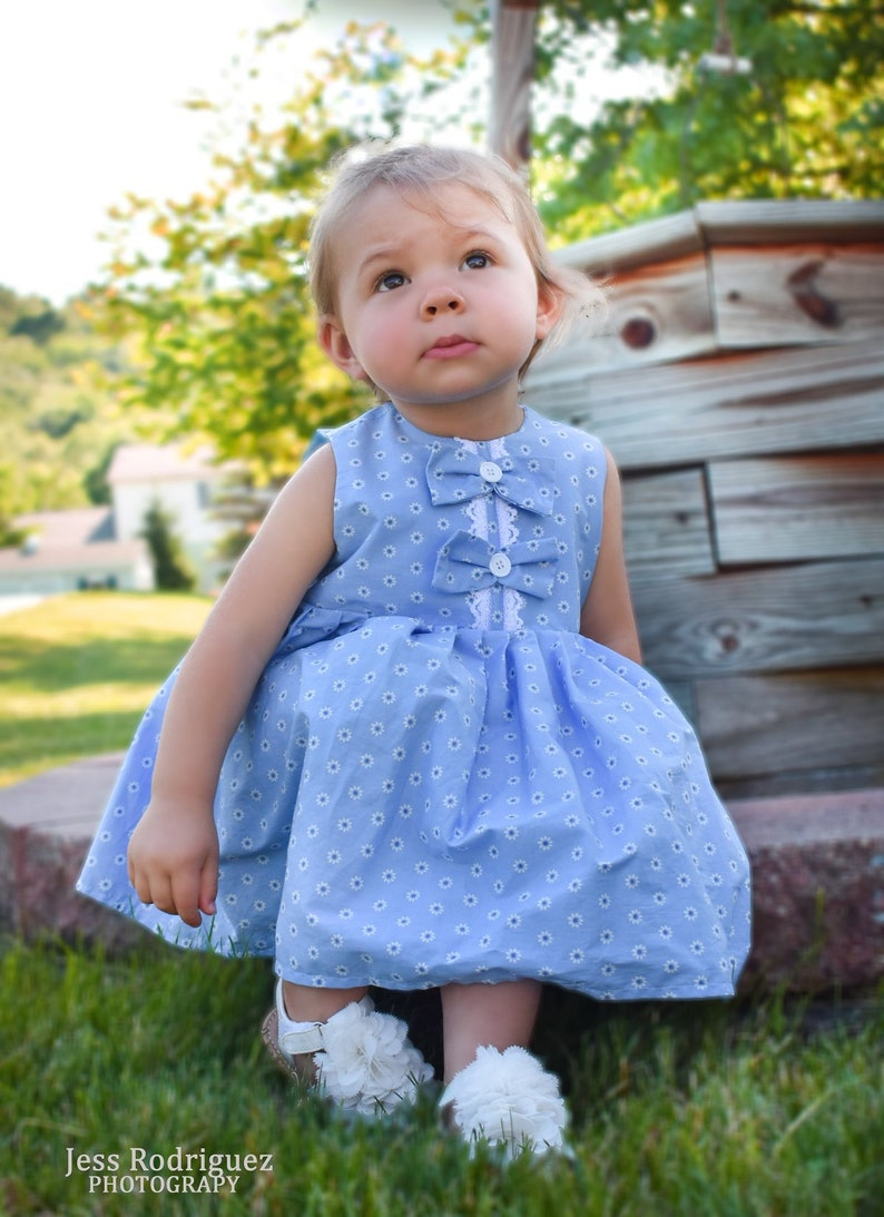 805b64aca Spring Baby Girl Blue Dress Easter Baby Girl Dresses Baby