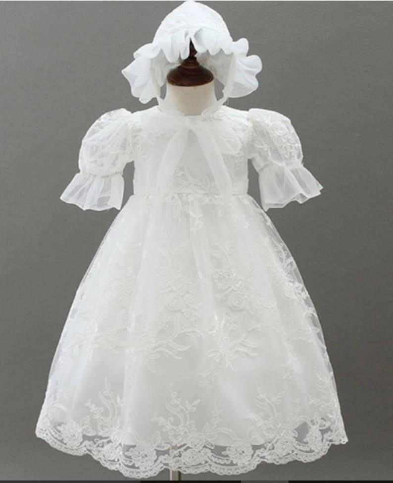 3b49127936c9 Christening Gown   Bonnet Grace Baptism Gown Lace