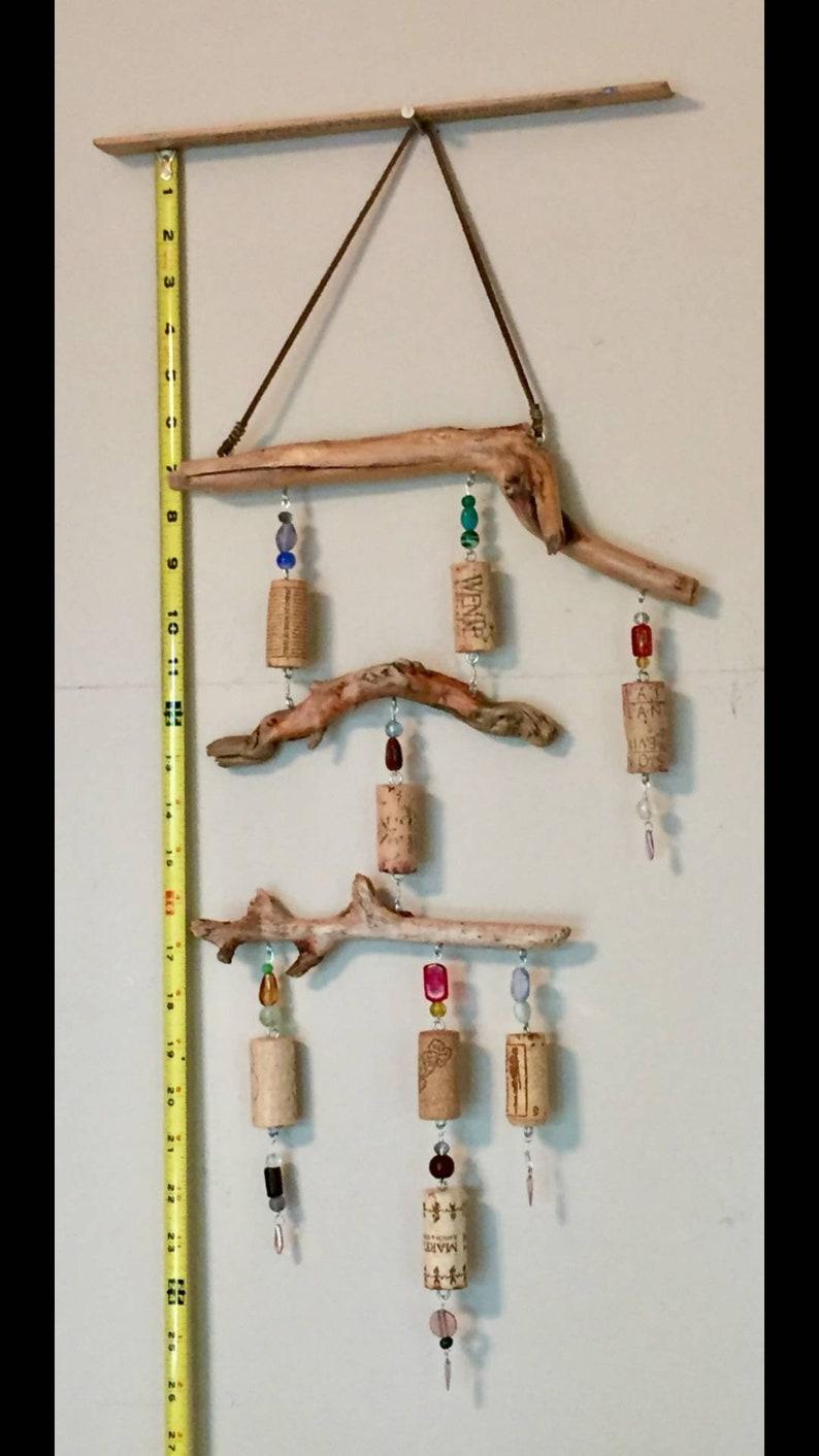 Hanging wine cork art TWISTED SISTER