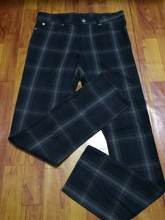 Ship Jet Blue Checkered Pants W34