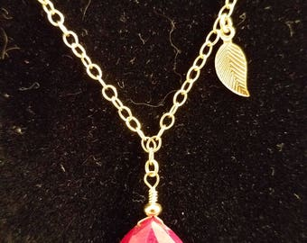 Ruby necklace14K Gold Filled
