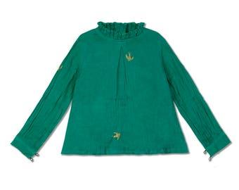Chavi Girl' Pine Green Shirt