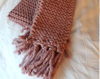 Hand-Knitted Custom Scarf